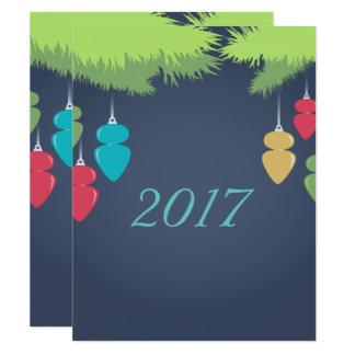 明るいクリスマスカード カード