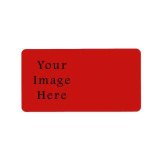 明るいケシの赤い色の傾向のブランクのテンプレート ラベル