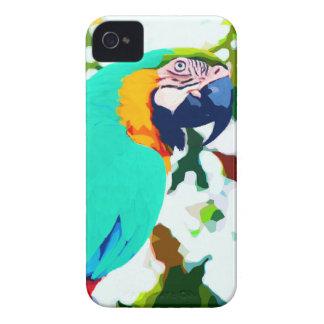 明るいコンゴウインコのオウムのポートレート Case-Mate iPhone 4 ケース