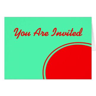 明るいターコイズのオレンジパーティーの招待 カード