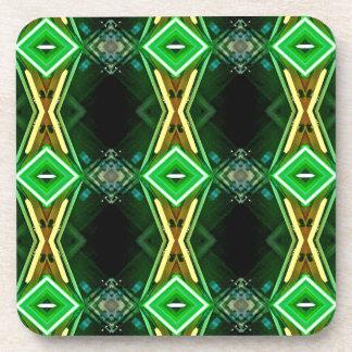 明るいネオン緑の種族のダイヤモンドパターン コースター