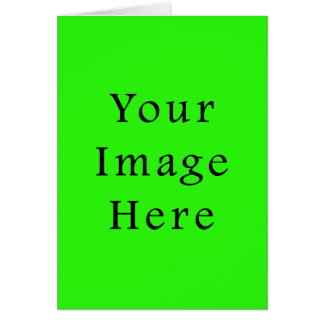 明るいネオン緑色の傾向のブランクのテンプレート カード