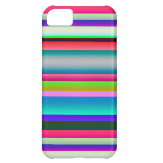 明るいネオン虹は縞で飾ります iPhone5Cケース