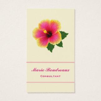 明るいハイビスカスの花 名刺