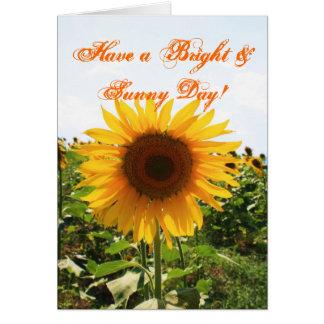 明るいヒマワリ グリーティングカード