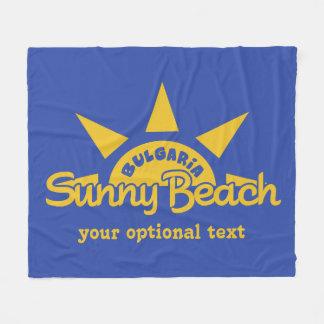 明るいビーチのブルガリアカスタムな文字及び色のフリース フリースブランケット
