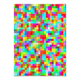 明るいピクセルパターン・カード カード