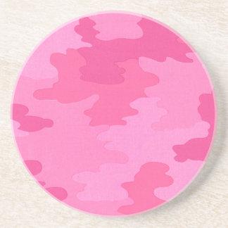 明るいピンクのカムフラージュのコースター コースター