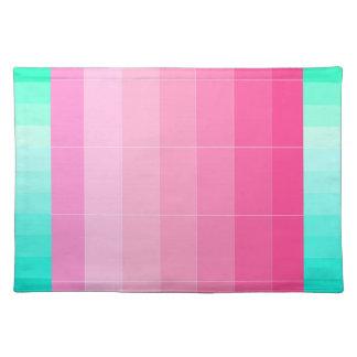 明るいピンクのグラデーションなランチョンマット2だけを着色して下さい ランチョンマット