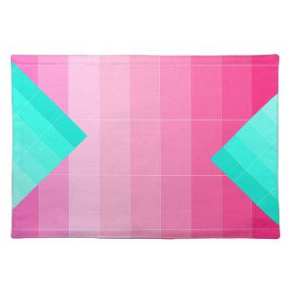 明るいピンクのグラデーションなランチョンマット3だけを着色して下さい ランチョンマット