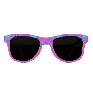 明るいピンクのターコイズのデザイン サングラス