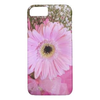明るいピンクのデイジーの花柄 iPhone 7ケース