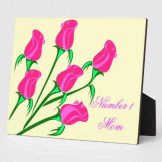 明るいピンクのバラ フォトプラーク