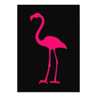 明るいピンクのフラミンゴ カード