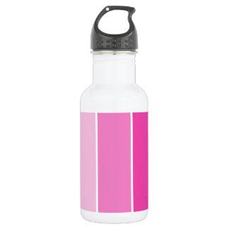 明るいピンクのペンキのサンプル ウォーターボトル