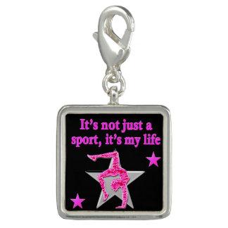 明るいピンクの体操は私の生命デザインです チャーム