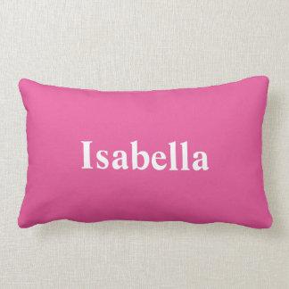 明るいピンクの枕のあなたの名前 ランバークッション