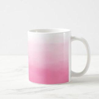 明るいピンクの水彩画のグラデーションなマグ コーヒーマグカップ