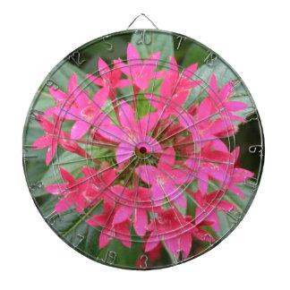 明るいピンクの熱帯花の投げ矢板 ダーツボード