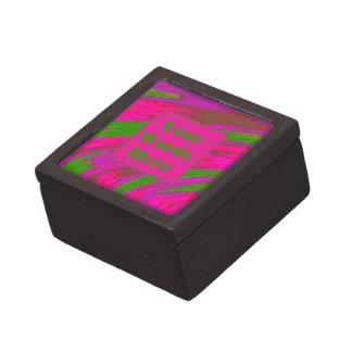 明るいピンクの緑のモダンな棒の抽象芸術 ギフトボックス