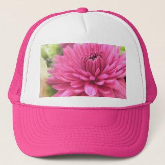 明るいピンクの花のマゼンタのミイラの写真のプリント キャップ