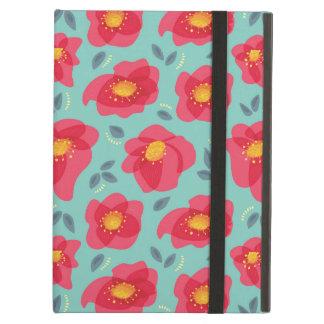 明るいピンクの花びらを搭載するかわいらしい花パターン iPad AIRケース
