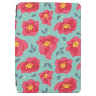 明るいピンクの花びらを搭載するかわいらしい花パターン iPad AIR カバー