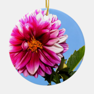 明るいピンクの花 セラミックオーナメント