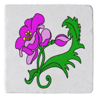 明るいピンクの花 トリベット