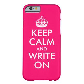 明るいピンクは平静を保ち、書きます BARELY THERE iPhone 6 ケース