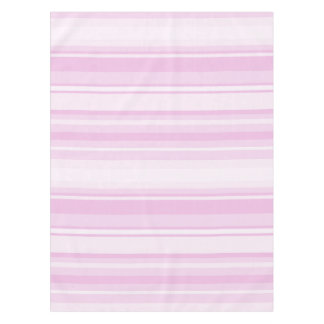 明るいピンクは縞で飾ります テーブルクロス