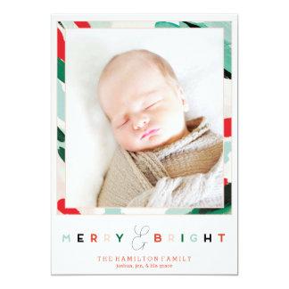 明るいフレームの休日の写真カード 12.7 X 17.8 インビテーションカード