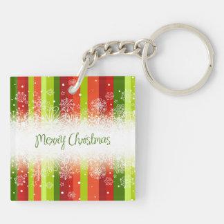 明るいメリークリスマスの休日のデザイン キーホルダー