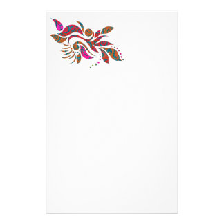 明るいモダンの抽象芸術のコラージュのデザイン 便箋
