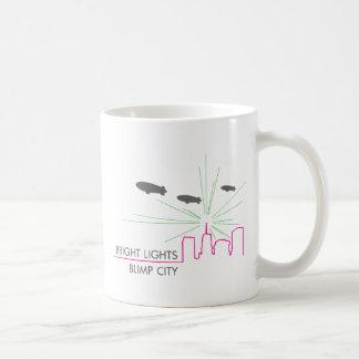 明るいライト軟式小型飛行船都市 コーヒーマグカップ
