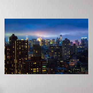 明るいライト、大きい都市 ポスター