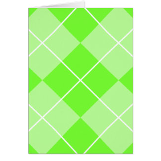 明るいライムグリーンのアーガイル カード