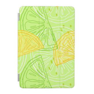 明るいライムグリーンの柑橘類レモンパターン iPad MINIカバー