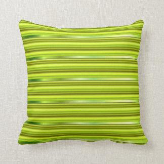 明るいライムグリーン金属Pinは縞で飾ります クッション