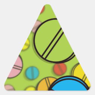 明るい丸薬 三角形シール