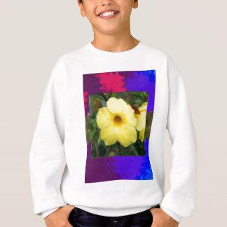 明るい低価格のエレガントなギフトの蘭の花の黄色 スウェットシャツ