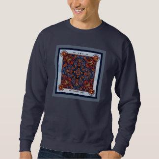 明るい冬は万華鏡のように千変万化するパターンのスエットシャツをつけます スウェットシャツ