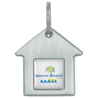 明るい南ビーチ、フロリダ ペットネームタグ