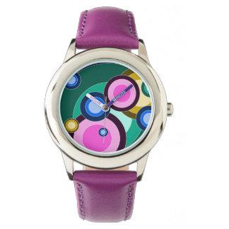 明るい及びおもしろいのレトロの円 腕時計