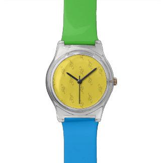 明るい夏は花の腕時計を着色します 腕時計