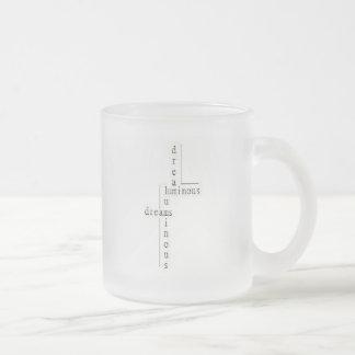 明るい夢によって曇らされるマグ フロストグラスマグカップ