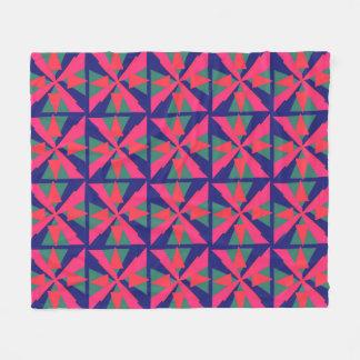 明るい幾何学的 フリースブランケット