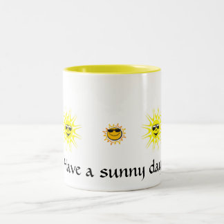 明るい日マグを持って下さい ツートーンマグカップ