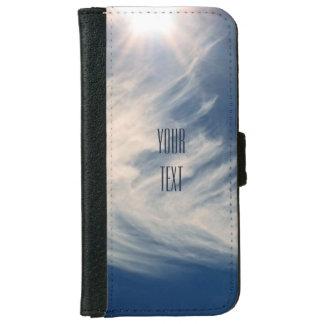 明るい日曜日および美しい雲は個人化なります iPhone 6/6S ウォレットケース