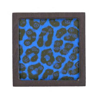 明るい暗藍色の色彩の鮮やかなチータ ギフトボックス